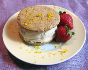 Lemon Ice Cream Sandwich