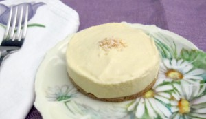 Lemon Mousse Tart on plate