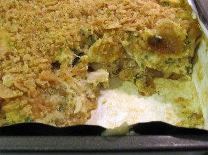 Chicken Enchilada Casserole layers